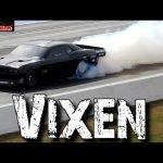"Vixen: 4,500hp Twin Turbo ""Hemi"" Dodge Challenger big tire car Drag Racing"