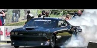 The 55 vs Vixen twin turbo Challenger at No Prep Kings 2 Topeka Kansas