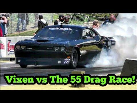 The 55 vs Vixen twin turbo Challenger at No Prep Kings 2 Topeka Kansas
