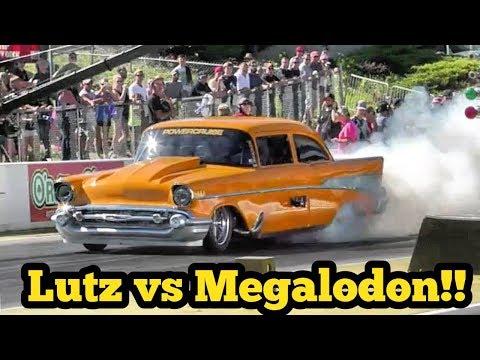 Lutz vs Megalodon Procharged Camaro at No Prep Kings 2 Topeka Kansas