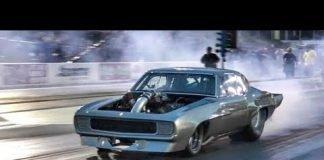Megalodon Procharged Camaro vs Track Doe at No Prep Kings 2 topeka kansas