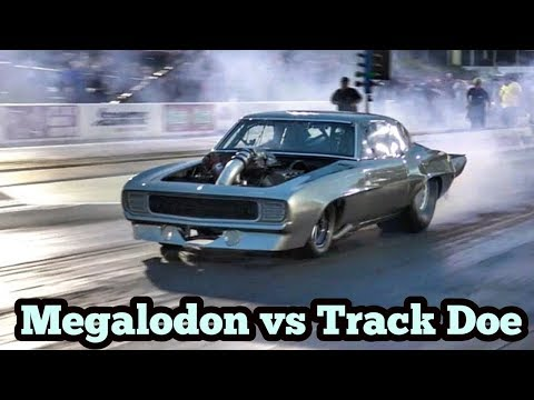 Megalodon Procharged Camaro vs Track Doe at No Prep Kings 2 topeka kansas