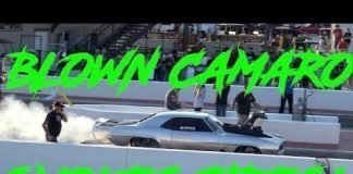 CHEVY CAMARO BLOWER CAR SMOKES TIRES!!!  CODY BAKER NO PREP KINGS