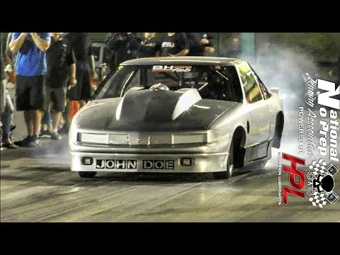 John Doe on small tires vs Nicolas turbo rx7 at no prep kings 2 topeka kansas