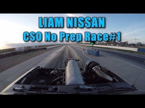 Liam Nissan Goes No Prep Racing: Wheelies!!