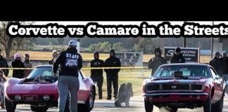 Corvette vs Camaro in the streets of Wagoner Oklahoma
