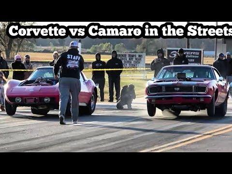 Corvette vs Camaro in the streets of Wagoner Oklahoma