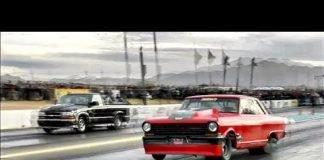 Boddie vs Jason Cantu's twin turbo truck at Tucson Street Outlaws No Prep
