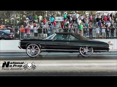 Big Wheel turbo/nitrous LS Impala vs Turbo Mustang at Orangeburg No Prep Kings Filming