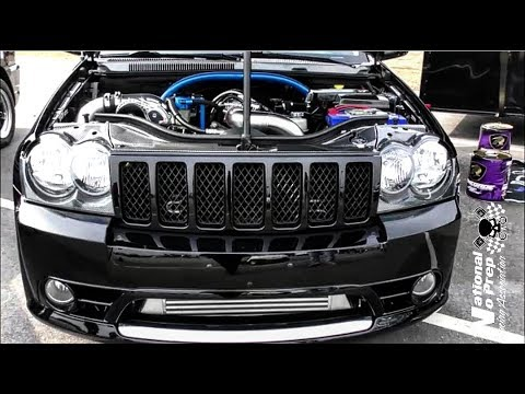 A procharged Jeep and Turbo Jeep walk around at Galot No Prep Kings Filming