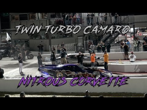 SHAWN WILHOIT NO PREP KINGS MISTRESS TURBO CAMARO VS NITROUS CORVETTE DRAG RACING