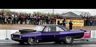 Dominator vs Jason Cantu's Twin Turbo Truck at Tucson Street Outlaws No prep