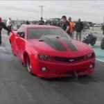 Fireball Camaro vs Larry Larson at Winter Meltdown No Prep
