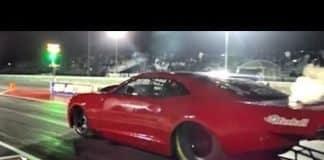 Fireball Camaro vs The Unicorn Nitrous Chevy at San Antonio No Prep Kings