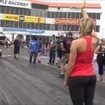Kye Kelley blistering hit at the Small Tire Nationals with help from Lizzy Musi