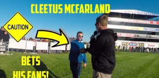 Street Car Takeover No prep racing.  Cleetus McFarland Bets 2 of his fans for money!