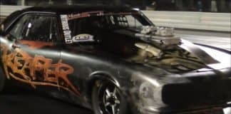 Street Outlaws Reaper vs Fast n2o Firebird at the Winter Meltdown race
