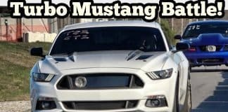 Turbo Mustang Battle in the Streets of Wagoner Oklahoma