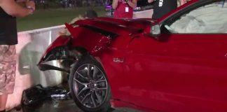 2015 Mustang 5.0 Drag Racing CRASH