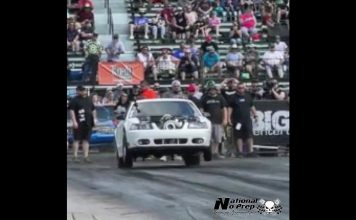 Apollo Turbo Mustang vs Nitrous Mustang at Armageddon 2017 no prep