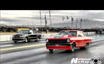 Boddie vs Jason Cantu's twin turbo truck at Tucson Street Outlaws No Prep
