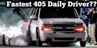 Fastest 405 Daily Driver? Murder Nova driving Man Van at Winter Meltdown No Prep