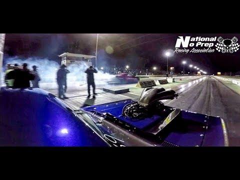 Fireball Camaro vs Blown Chevelle in the Nuclear No Prep at Cordova