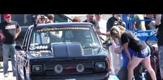 Flaco twin turbo s10 vs turbo Camaro at No Prep Mayhem
