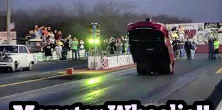 Monster Wheelie at No Mans Land Event Edinburg Texas