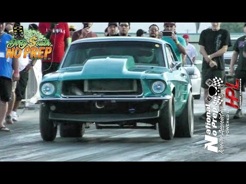 Procharged Mustang run at the dirty south no prep