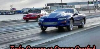 Turbo Camaro vs Orange crushed at Redemption 13 no prep