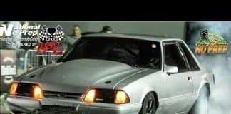Turbo Mustang vs Nitrous Mustang battle at the dirty south no prep