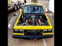 Twin Turbo Buick at Tucson Street Outlaws No Prep