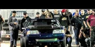 2JZ Mustang laying down power at the lone survivor no prep