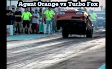 Agent Orange turbo 240sx vs Eric Stubbs Turbo Fox at bounty hunters no prep