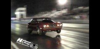 BBC Nitrous Mustang vs Nitrous Camaro at No Prep Mayhem