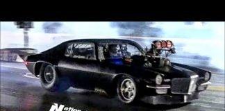 Fireball Camaro vs Blown Camaro at Memphis Street Outlaws