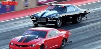 Fireball Camaro vs Monza (Grudge Racing at Street Outlaws No Prep Kings Ohio)
