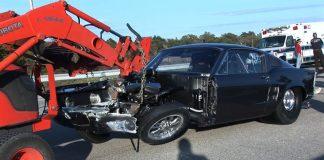 HELLEANOR Mustang Crash vs MONZA's Split Bumper (Street Outlaws)