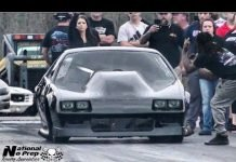 Kye Kelley on small tires vs Todd Spiers turbo Mustang at Small tire legends no prep