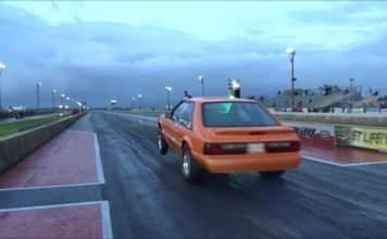 Mustang gets down the no prep surface like a boss at Bounty Hunters II