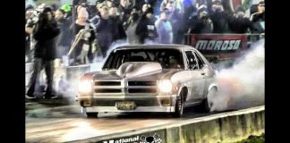 Pontiac Ventura taps the wall at the Kentucky Street Outlaws live no prep