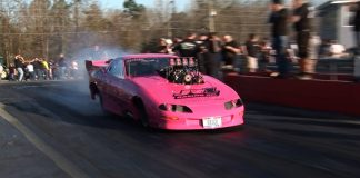 STINKY PINKY Blown Camaro - Hub City Dragway