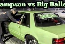 Sampson Nitrous Mustang vs Big Baller Procharged Mustang at Winter Meltdown No Prep