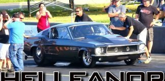 Street Outlaws: Twin Turbo 1967 Fastback Mustang Helleanor Drag Racing at OKC No Prep
