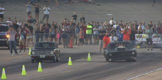 WILD RACE!!! Blown Camaro -vs- Rotary Datsun