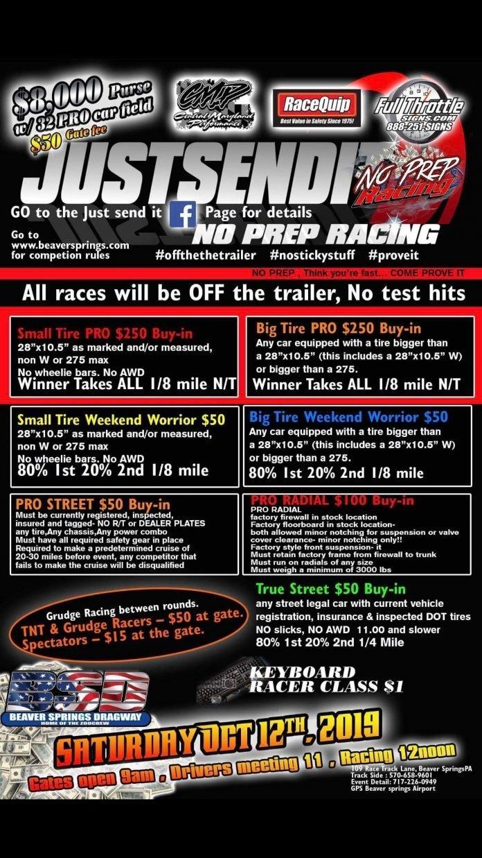 JustSendIt No Prep Racing