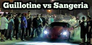 Guillotine Nitrous Falcon vs Sangeria Nitrous Camaro at No mans Land event