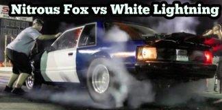 Nitrous Mustang vs White Lightning at Emp Top End Battle