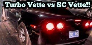 Turbo Corvette vs Procharged Corvette Battle